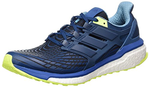 adidas Energy Boost M, Scarpe Running Uomo, Blu (Blue F17/blue Night F17/solar Yellow), 42 EU