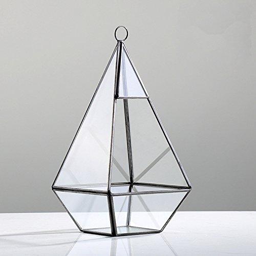 Deko Mini Gewächshaus Glasterrarium geometrisch Pyramid