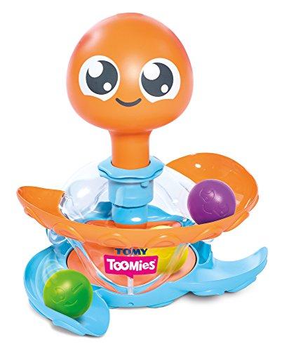 Tomy Kinder Spielzeug Oktopus Kreiselrutsche Mehrfarbig – Hochwertiges Kinderspielzeug für die Badewanne & Draußen – Fördert motorische Fähigkeiten - ab 12 Monaten