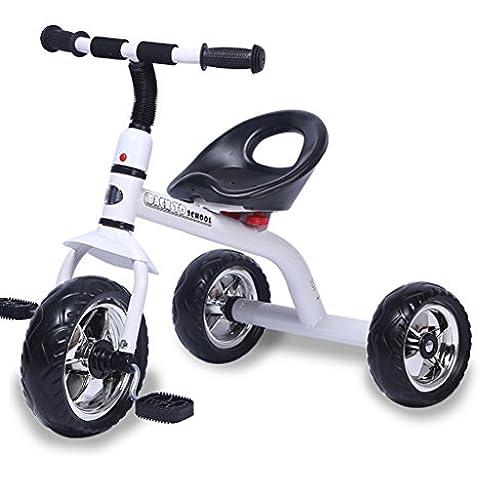 KA-ALTHEA- Los niños del pedal bicicleta de empuje del cochecito de bebé del triciclo para niños de 1-6 años Scooter niño monopatín bicicleta triciclo Walker ( Color : Blanco , Tamaño : Una sección