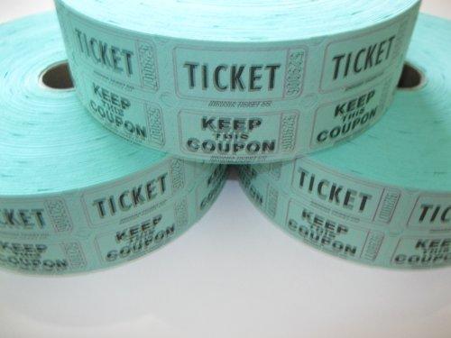 3 Rolls Green 50-50 Raffle Tickets by Indiana Ticket Company