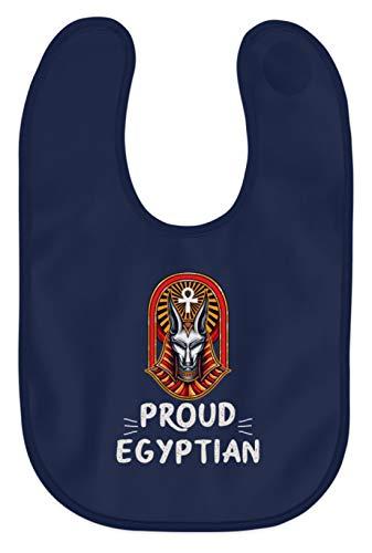 Schuhboutique Doris Finke UG (haftungsbeschränkt) Ägypten Stolzer Ägypter Pharao Pyramide - Baby Lätzchen -Einheitsgröße-Marine-blau Pyramide Marine