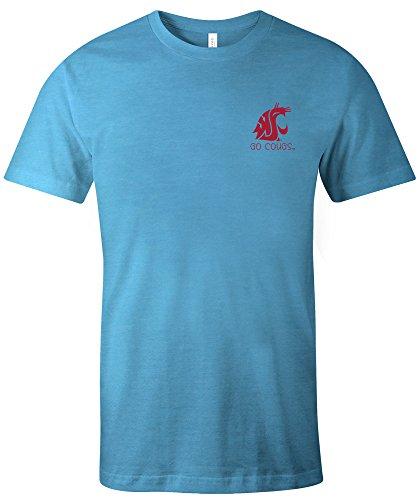 Image One NCAA Washington, State Cougars Erwachsenen-T-Shirt, Azteken-Muster, kurzärmelig, Trimix, Größe S, Aqua