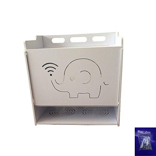 KINDFLY Wifi Modem Router Kabel Power String Draht Aufbewahrungsboxen Wandhalterung Floating Regal Storage Rack 4Schicht