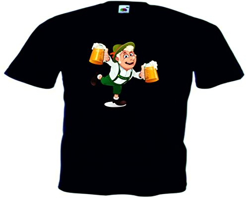 T-Shirt Oktoberfest Wiesn München Junggesellenabschied für Frauen Männer und Kinder in allen Größen XS bis 4XL oder Kinder 104 bis 164 Motiv Nr.67 Herren-Schwarz