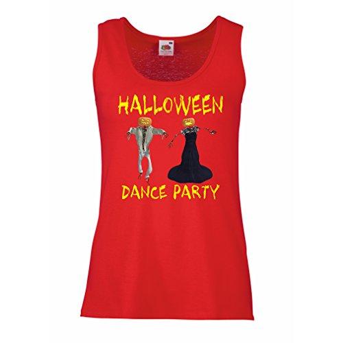 lepni.me Damen Tank-Top Coole Outfits Halloween Tanz Party Veranstaltungen Kostümideen (Small Rot Mehrfarben)