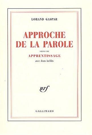 Approche De La Parole Apprentissage [Pdf/ePub] eBook