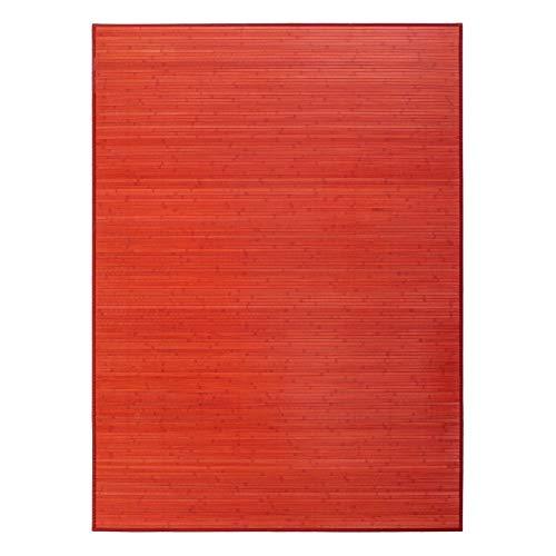 Alfombra salón Pop roja bambú 180 x 250 cm Iris