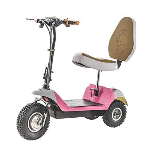 BOHENG Elektrofahrräder, Zusammenklappbares Dreirädriges Elektrofahrzeug, Mini-Elektrofahrrad Für Erwachsene, 48-V-Lithium-Batterie-Steuerfahrrad (Kann 113 Kg Standhalten),B