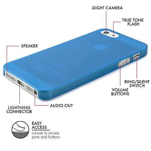 """QUADOCTA smartphone-ultra slim case-coque de protection-tenuis """"""""-coque ultra fine coque légère et de protection transparente iPhone 4/4S  - Set: 1x Schwarz; 1x Weiss bleu"""
