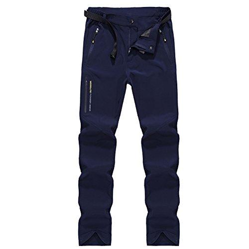 Lhhmz uomo pantaloni da trekking resistenti all'acqua da pantaloni da traspirazione veloci e asciutti pantaloni da viaggio leggeri da esterno