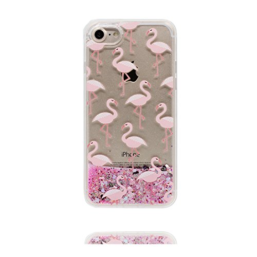 iPhone 6 Custodia, Glitter Glitter Flowing Safe / Case iPhone 6s Copertura / Shock Dust Resistant Shell iPhone 6 Cover e tappi antipolvere (gratis) / Cartoon orso bear Rosa 2