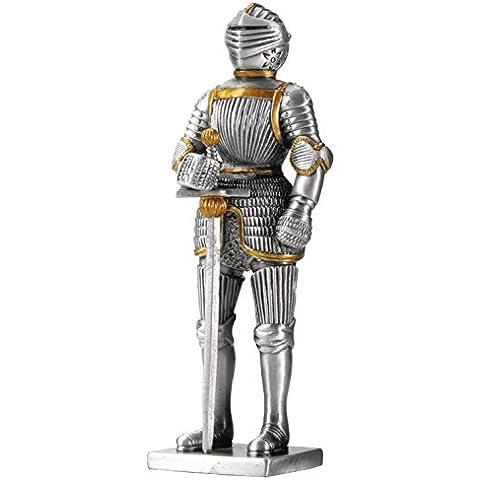 Caballero alemán Estatua Estatuilla Decoración del estaño