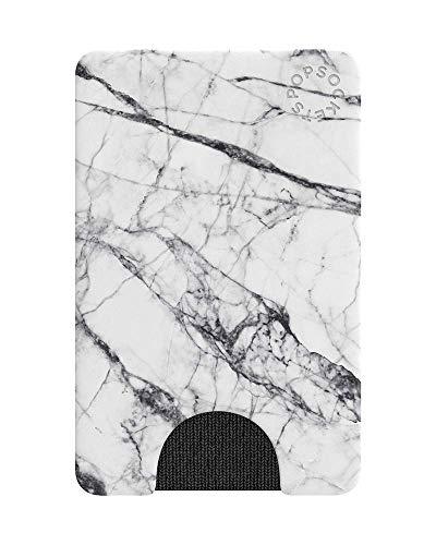 PopSockets PopWallet - Billetera Oficial para Smartphones y Tabletas - White Marble