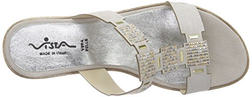 Vista - 90-14402, Ciabatte Donna Grigio (Grau (beige))