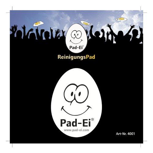 PAD EI ® von EI WISCH ® Display-Cleaner Reinigungspad aus High Tech Microfaser für alle Display´s DOPPELSEITIGE Version Nicht selbsthaftend die TOP Ostergeschenk Idee