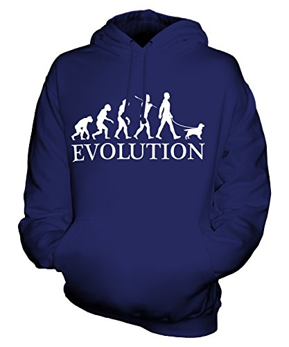Candymix - English Toy Spaniel Evolution Of Man - Unisex Hoodie Mens Ladies Hooded Sweater