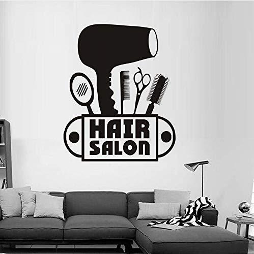 Fushoulu forbici asciugacapelli pettine specchio adesivi murali in vinile per camera dei bambini nuova moda stickers murali per parrucchiere negozio decorazione della casa