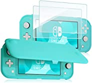 ProCase Nintendo Switch Lite Flip Cover with 2 Pack Tempered Glass Screen Protectors, Slim Protective Flip Cas