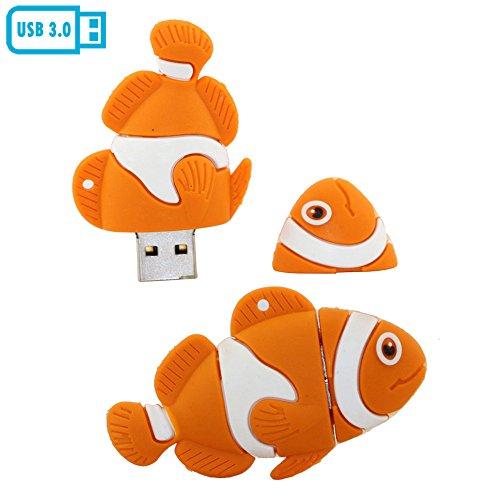 32gb modello usb flash drive usb di pesce disco chiavetta usb 3.0 u disco usb flash disk (orange)
