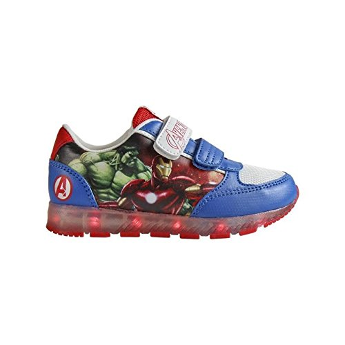 Avengers 2300-2648 Chaussons Sneaker Mixte Enfant, Baskets Mode, Led, Multicolore, Captain America, Iron Man, Thor, Hulk