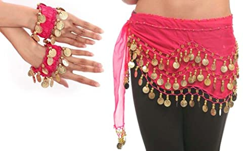 Shimmy Belt for Belly Dancing with Coins & Beads Beach