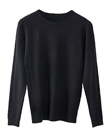 La Vogue Pull Homme Gilet Sweat Col Rond Manche Longue Veste Hiver Noir Size5