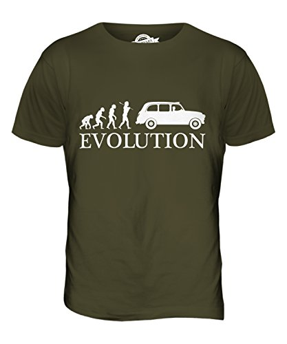 CandyMix Taxi Londoner Black Cab Evolution Des Menschen Herren T Shirt Khaki Grün