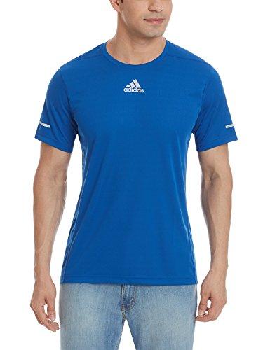 Adidas Run Tee M Maglia da Uomo Blu (Eqtazu)