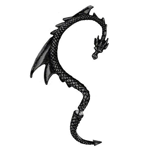 hen Ohrklemme Ohrstecker Ohr in schwarz aus Game of Thrones by (Rechtes Ohr) ()