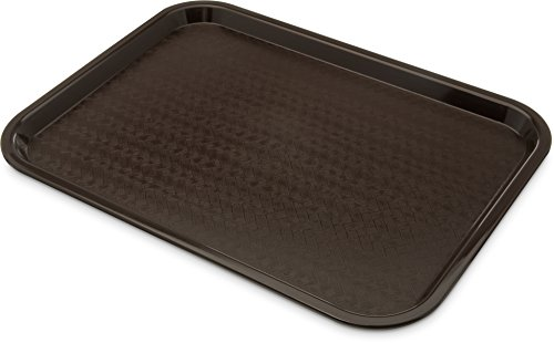 (30cm x 41cm , Chocolate) - Carlisle CT1216-69 41cm Length x 31cm Width x 1.8cm Height, Chocolate Colour, Polypropylene Cafe Standard Tray Carlisle Cafe Standard Tray