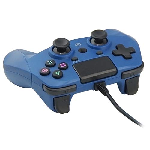 Airpods Schutzhülle, Silikon, Chshe, Game Controller, Chshe, mit Kabel Universal Controller Handle Gaming Pad Joystick für Ps4/Ps3/Pc, Bauchmuskeln, blau (Ps3 De Juego)