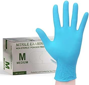 Guantes de Vinilo PVC Sin Polvo MAX GLOVES Desechables Especial Al/érgicos L/átex Peque/ña Color Azul 100 unidades S 4,5 gr