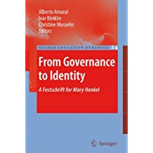 from governance to identity musselin christine amaral alberto bleiklie ivar