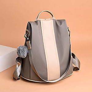 41D9rlj2UCL. SS300  - MELANSAY Mochila Antirrobo Mujer De Nylon Bolsos Juveniles Escolares Portatil Impermeable Daypack Mini Mochilas Casual Bolsa De Viaje,Beige