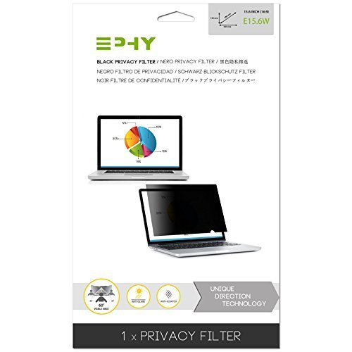 EPHY Privacy Filter / Anti-Glare / Screen Protector for Laptop TFT Monitor Desktop PC LCD LED Screen - Compatible with Apple iMac Macbook DELL SAMSUNG ACER V7 3M IBM LENOVO HP COMPAQ AOC ACER ASUS SHARP LG NEC (15.6