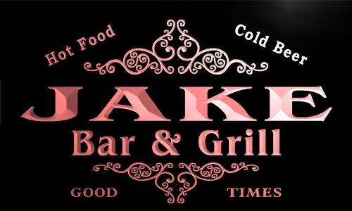 u21841-r JAKE Family Name Bar & Grill Home Beer Food Neon Sign Barlicht Neonlicht Lichtwerbung