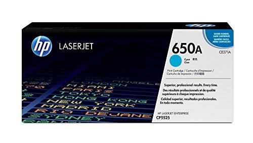 HP 650A Cyan Original LaserJet Tonerkartusche
