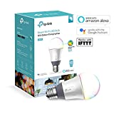 TP-Link Smart WiFi Light Bulb, E27, 11W, Works with Amazon Alexa (Echo and Echo Dot), Google Home and IFTTT, Colour-Changeable, Dimmable, No Hub Required [Energy Class A+]