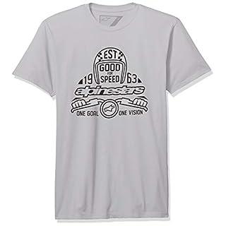 Alpinestars Men's Motorsports Heritage t-Shirt Modern fit Short Sleeves, Snap El Silver, S