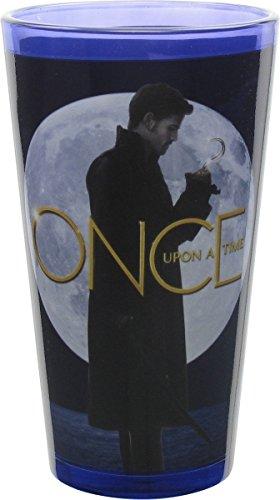 """Vaso de pinta de la serie """"Once upon a time"""" con foto del Capitán Garfio."""