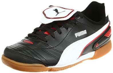 Puma Esito Finale IT Jr 102018, Unisex - Kinder, Sportschuhe - Fußball, Schwarz (black-white-puma red 03), EU 30 (UK 11.5) (US 12.5)