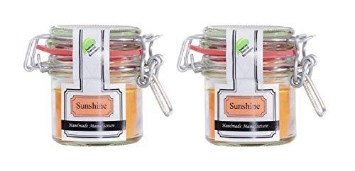 Parfüme Boutique 1101367su Vintage Verre S Sunshine Bougie parfumée dans verre, orange, 10 x 10 x 8,5 cm