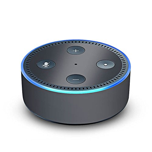 DeinDesign Amazon Echo Dot 2.Generation Folie Skin Sticker aus Vinyl-Folie Anthrazit Grau Grey