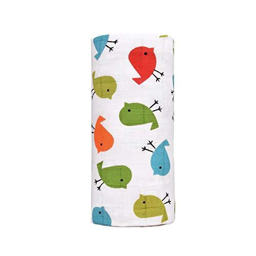 T-TOMI TT 4413Birds Bio Big Bambus Handtuch, unisex-child, mehrfarbig, - Baby T Bird Kostüm