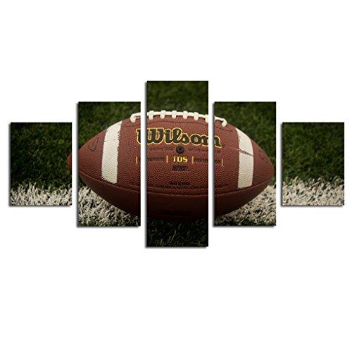 Demino 5 Verkleidungs-Rugby-Ölgemälde Ball des Sports Kein Gerahmte Wandbild Schlafzimmer Wohnzimmer Öl-Zeichnungs-Plakat