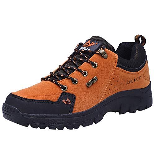 Holeider Schuhe Wanderschuhe Herren Sneaker Outdoor Rutschfest Trekkingschuhe Bergschuhe Hikingschuhe Sicherheitsschuhe Arbeitsschuhe Atmungsaktiv Kletterschuhe für Männer