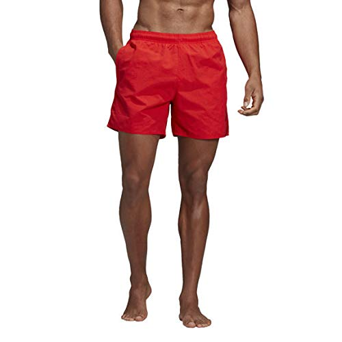 adidas Solid Length Swim Shorts, Herren S Rot (Active red)