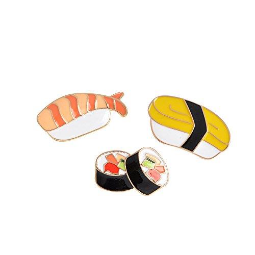 Gruppe Mädchen Drei Kostüm - Da.Wa 1 Gruppe Accessoires Lassen Öl Cartoon Kimbap Reis Sushi Mittagessen Brosche Mode Seidenschal Dornschließe(3 Stück)
