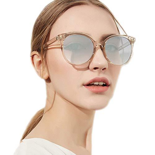 OULN1Y Sport Sonnenbrillen,Vintage Sonnenbrillen,Round Sunglasses Women Elegant Cat Eyes Sun Glasses Ladies Vintage Eyewear Shades for Women UV400